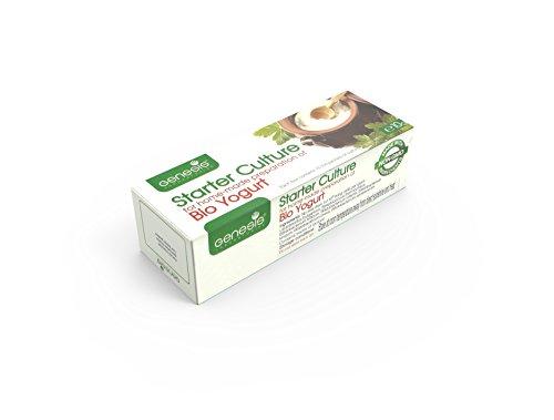 Joghurtferment für Bio-Joghurt - eine Packung mit 10 Beuteln tiefgekühlter trockener Kulturen thumbnail