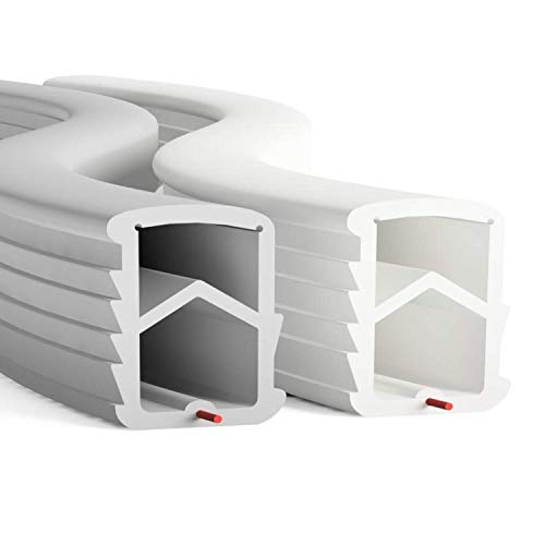 DIWARO® Stahlzargen-Dichtung SZ001 | weiß oder grau | 5 lfm für Haus- und Innentüren. Zum Schallschutz und abdichten der Tür. Bestehend aus TPE (Thermoplastischen Elastomer) (grau)