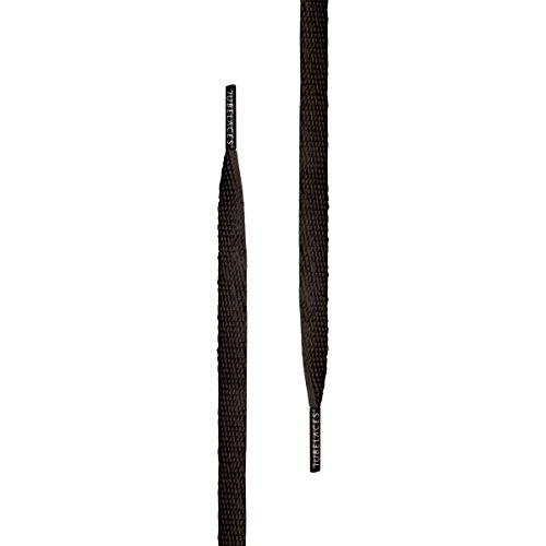 TubeLaces White Flat Schnürsenkel Schnürsenkel Schwarz (Black)