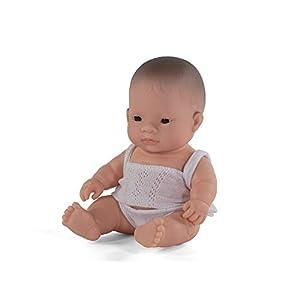 Miniland- Baby Asiático Niño 21cm Muñeco, Color Real, 21 Cm (31125)