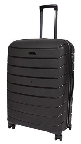 Top Qualität 4 Rad Gepäck Solide Harte Schale Reise Erweiterbar Schwarz Koffer TSA-Sperre Laufkatze - Vector (L)