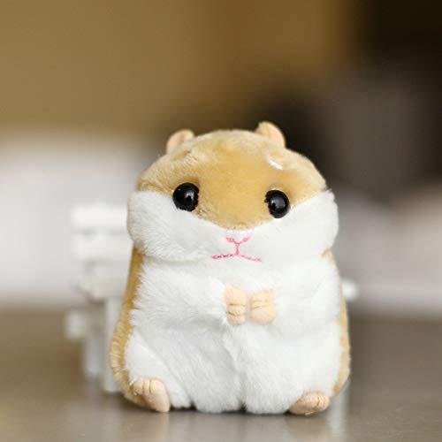 Haushele OFD Niedlicher Kleiner Hamster Plüsch Spielzeug Kleine Schlüsselanhänger Tasche Anhänger Puppe Cartoon Puppe Plüsch Spielzeug H01