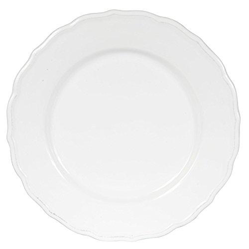 Côté Table 26899 Carole Assiette Plate Faïence Blanc 27 x 27 x 3 cm (Lot de 6)