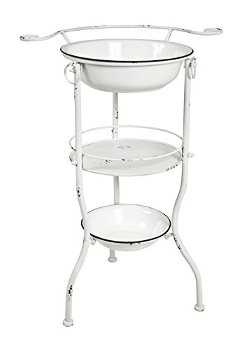Haku-Möbel Waschtisch, Metall, antikweiß, 40 x 56 x 85 cm