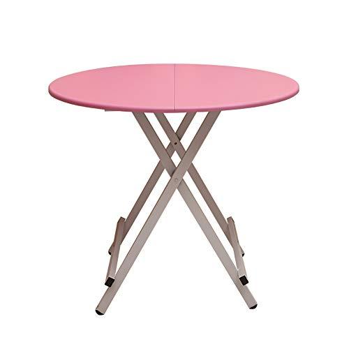YXX Accueil Livng Room Tables Basses Bureaux informatiques, Cuisine Pliante Ronde Table à Manger Bureau Bois 4 Pieds (Couleur : #1, Taille : 80x80x55cm)