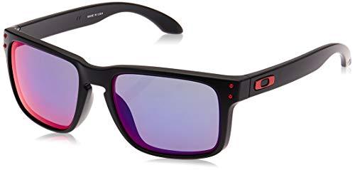Oakley Sonnenbrille Holbrook W/Warm, 55, Matte Black / Positive Red Iridium
