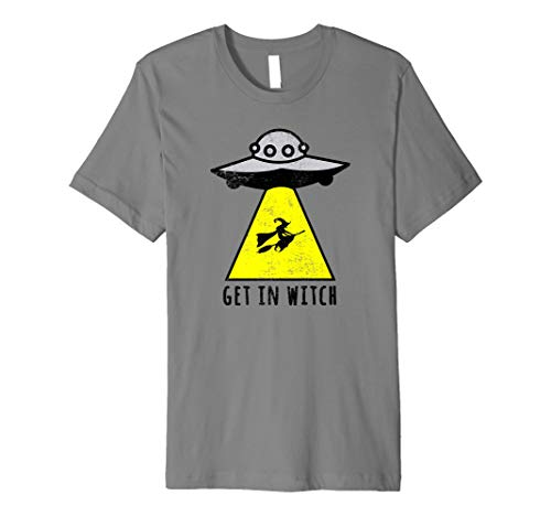 (Get in Hexe | Halloween | Alien Ufo T Shirt | Witching tragen)