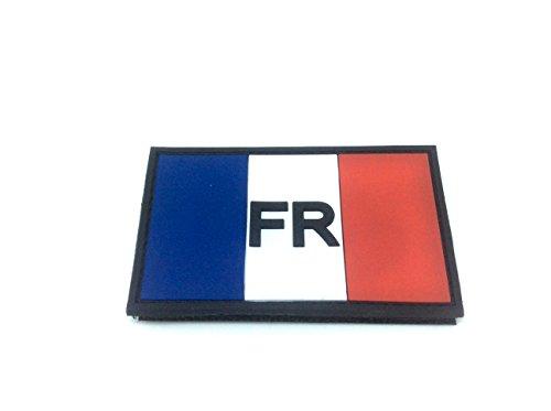 Frankreich Französisch FR Tricolour Flagge PVC Klett Emblem Abzeichen (Walking-frankreich)