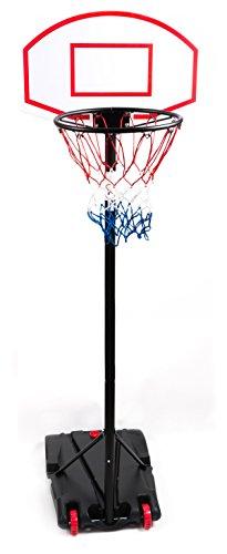 Basketballkorb mit Ständer, Wasser- oder Sand befüllbar, Spielhöhe 165 - bis 205 cm