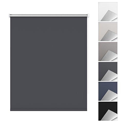 SBARTAR Store Enrouleur Occultant pour Fenêtre 80 x 170 CM Gris - Montage Facile sans Perçage, Isolant Thermique et Résistant aux Rayons Ultraviolets - 2 Types de Fixation