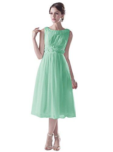 Dresstells Kurz Brautjungfer Abendkleid für Mädchen Mintgrün