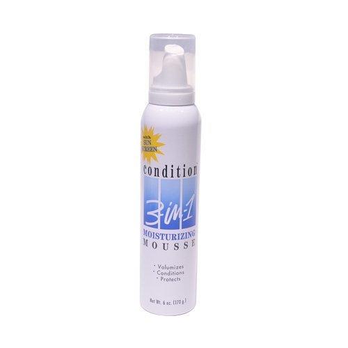 Condition 3-in 1 Mousse hydratante 3 en 1 - Tenue maximale - Tenue, volume et brillance - 175 ml