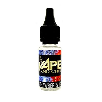 E Cigarette Liquid Strawberry Ice Flavour Non-Nicotine Vaping Juice by Vape and Chill 60-40 VG-PG (10ml Plastic Bottle) from Vape and Chill