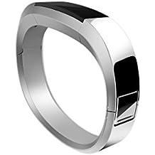 Fitbit Alta - Pulsera en metal unisex, color plata, talla S