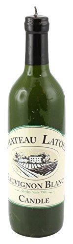 Leonardo-Collection-Novelty-White-Wine-Bottle-Shaped-Candle-Green-by-The-Leonardo-Collection