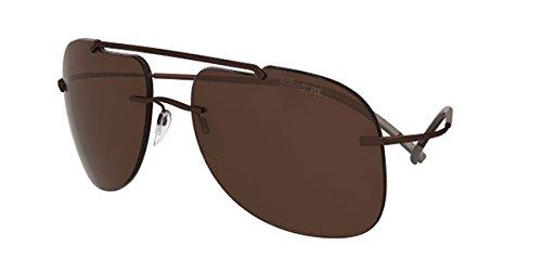 Preisvergleich Produktbild Silhouette - EXPLORER 8665, Pilot (tropfenförmig), allgemein, Herrenbrillen, DARK BROWN/BROWN POLARIZED(6201)