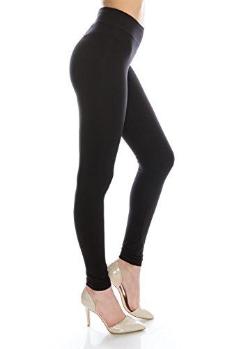 BaumwollSpandex Basic-Knit Jersey Plus Size Voll schwarze Leggings für Frauen plus Größe Schwarz XL (Pants Knit Basic)