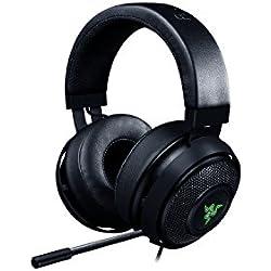 RAZER Kraken 7.1 V2 Chroma - Over-Ear Prise USB Casque Gaming Headset, Son Surround Virtuel 7.1, Casque Gamer avec Éclairage RGB et Microphone Numérique Amélioré, noir