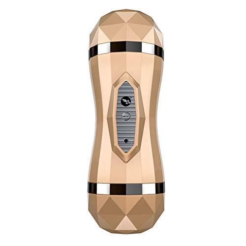 Maoes T-Shirt Jouets for Hommes 36 Fréquence de Vibration Stimulation Mains Libres Coupe Appareil de Relaxation Automatique Douce Voix for Hommes Coupe Toy Manchon