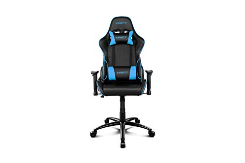 Drift DR125BL - Silla Gaming Profesional, (Poilipiel Alta Calidad,Ergonómica), Color Negro/Azul