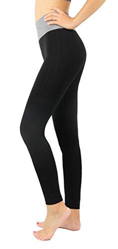 Pantalons fitness sport femme Leggings de sport joggings Gris YOGA running pants pratique,L