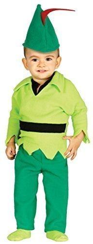 Monats 12 Peter Kostüm Pan - Fancy Me Baby Jungen Mädchen Robin Hood Märchen Buch Tag Hero Schurke Verkleidung Kostüm Kleidung 6-12 & 12-24 Monate - 6-12 Months