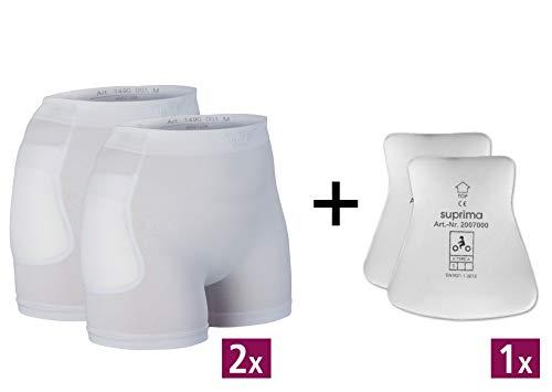 2 Slip (Suprima Set Hüftprotektor-Slip, 2 x 1-4900 und 1 x 2007 - Gr. M - weiss)