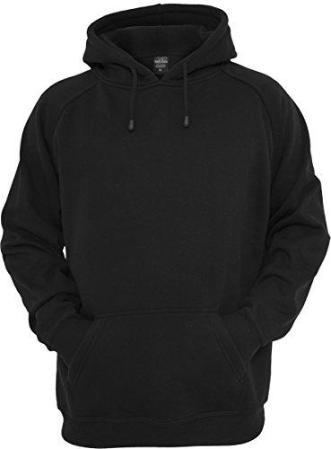 Urban Classics TB014 Sweatshirt, Hoodie Herren, Kapuzenpullover einfarbig, Schwarz (Black), Gr. XL
