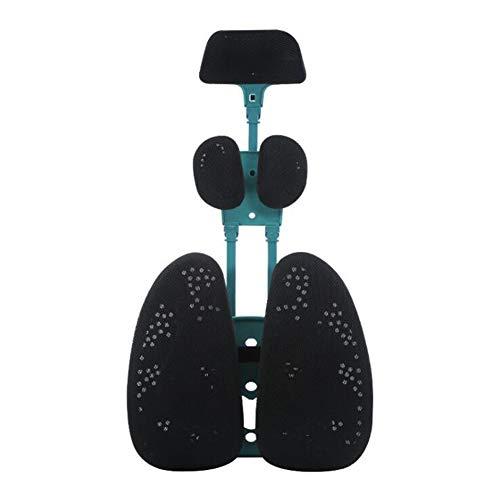 Einstellbare Stützhöhe Kopf Schulter Lordosenstütze Rückenstütze fördert gesunde Sitzhaltung Lendenwirbelstütze Haltungskorrektur Elektrische Massage Lendenwirbelsäule, Bürostuhl, Autositz,Black (Set Mit 3 Accent Stühle)