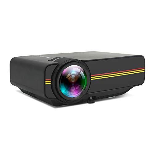 LEJIADA Projector New YG400 Home Micro LED HD Projector Mobile Computer USB Multi-Connect Mini Projector Black