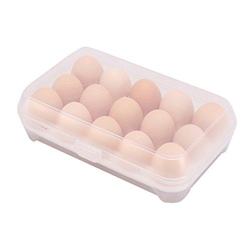 mackur Kunststoff Ei Halter Tabletts mit 15kleine Boxen 1 7*15*23cm weiß
