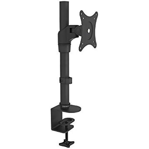 Duronic DM451X1 – Soporte de escritorio individual de movimiento completo para 1 pantalla plana de 38cm – 69cm