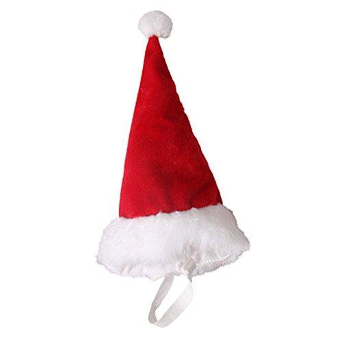 Baoblaze Christmas Pet Santa Hut Plüsch für Haustiere Kitten Urlaub Festivals Kostüm - Rot - - Rote Plüsch Santa Kostüm