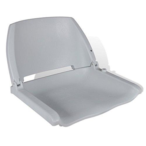 Festnight Bootssitz Steuerstuhl Anglerstuhl Klappstuhl aus Kunststoff UV-beständig 41x51x48cm Grau -