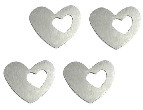 Table Cloth Weights 4 magnetische Tischdeckenbeschwerer Tischdeckengewichte Tischtuch-Halter mit Magnet, Silber (Herz) - Edelstahl Tischplatte