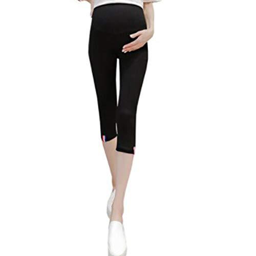 c6f6bff23589fd Scheda Leggins gravidanza estate 3/4 leggings premaman donna pantaloni  prenatal re