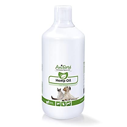 AniForte Organic Hemp Oil for Dogs & Cats 1L - Joint Supplement for Pets, Supports Immunity, Coat, Skin and Joint Pain… 1