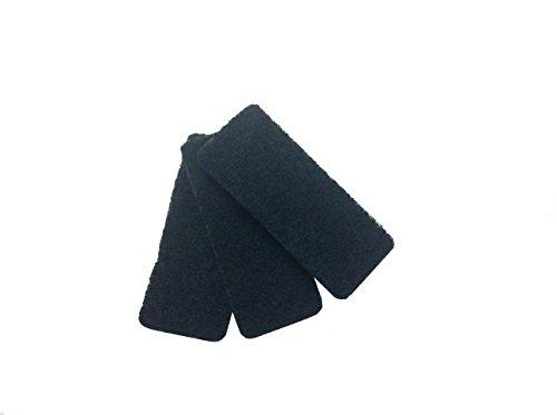 Rotho 6397208080 Ersatzfilter für Komposteimer mit Aktivkohlefilter, 3er Set, neutralisiert aufsteigende Gase, schwarz