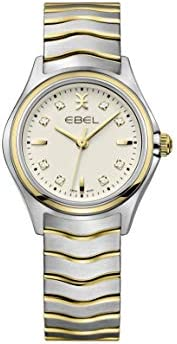 EBEL Ladies 1216480 Wave 18K Gold & Steel Swiss Quartz W