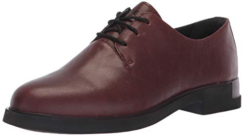Camper Iman, Zapatos Cordones Oxford Mujer, Rojo Burgundy