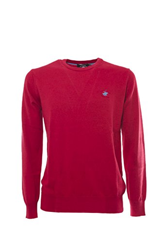 BEVERLY HILLS POLO CLUB - Homme pullover manches longues bhpc2823 Rouge
