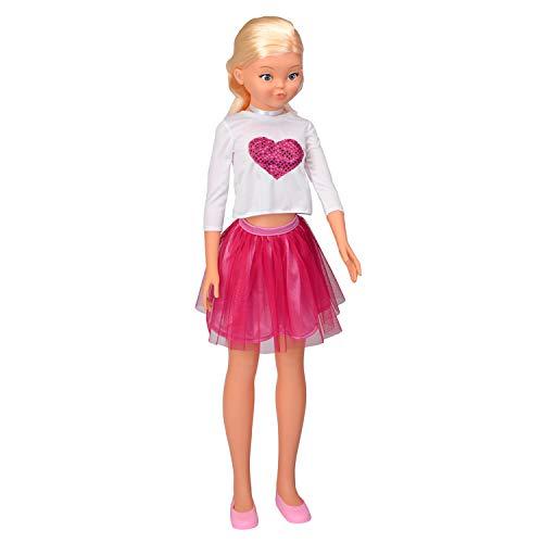 Falca Jenny Fashion 105 CM. Muñeca de 105cm Casi Tan Alta como tú, con la Que podrás Jugar, ponerle Tus Vestidos y peinarla. Muñeca articulada. Producto Recomendado para Mayores de 3 años