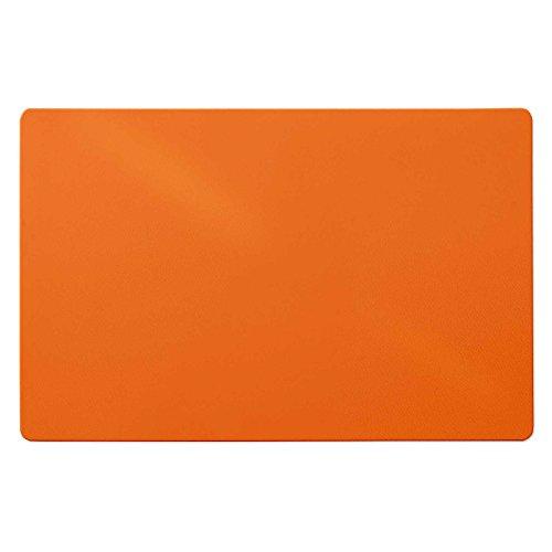 Trendige Schreibtischunterlage   Orange   abwischbar   PVC-frei   65 x 50 cm