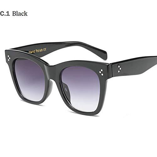 MoHHoM Sonnenbrille Hot Cat Eye Berühmtheit Kim Kardashian Sonnenbrillen Luxus Sonnenbrille Frauen Lady Übergroße Frame Brille Schwarz