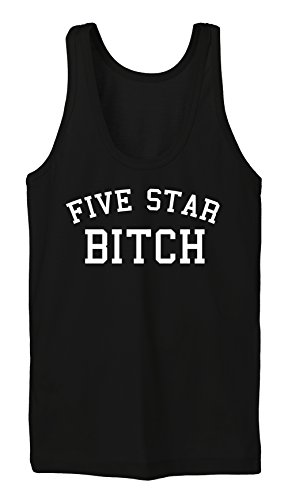 Five Star Bitch Tanktop Girls Negro-XL