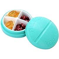 WANGXN Mini Pill Box Wöchentlich Compact Pill Case Reminder 4 Compartspill Organizer Box preisvergleich bei billige-tabletten.eu