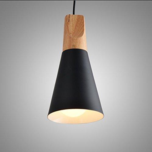 Plafonnier Suspensions Métal Lumiere Noire Suspensions Eclairage de Plafond Culot de Ampoule E27 Luminaire LED Matte Finish Luminaire