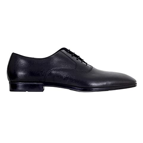 Black Leather Lace Up Shoes by Hugo Boss BOSSn5803