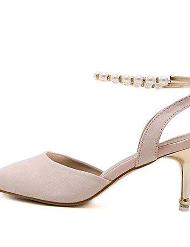 WSS 2016 Chaussures Femme-Habillé-Noir / Amande-Talon Aiguille-Talons / Bout Pointu-Talons-Laine synthétique black-us6 / eu36 / uk4 / cn36