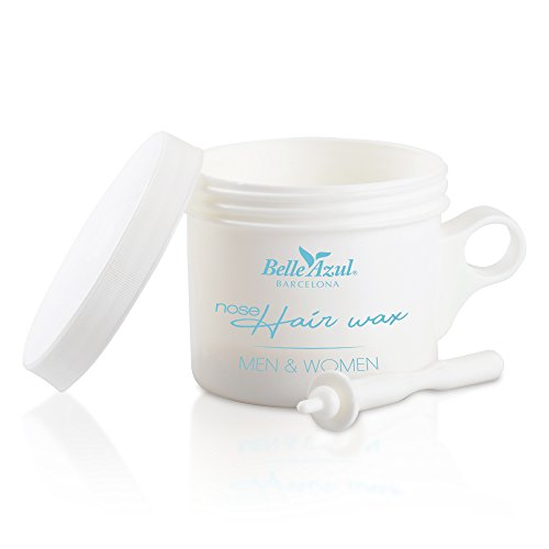 Belle Azul Nose Hair Wax – Kit d'épilation du Nez à la Cire d'Abeille Naturelle. A faire chez soi. 50g